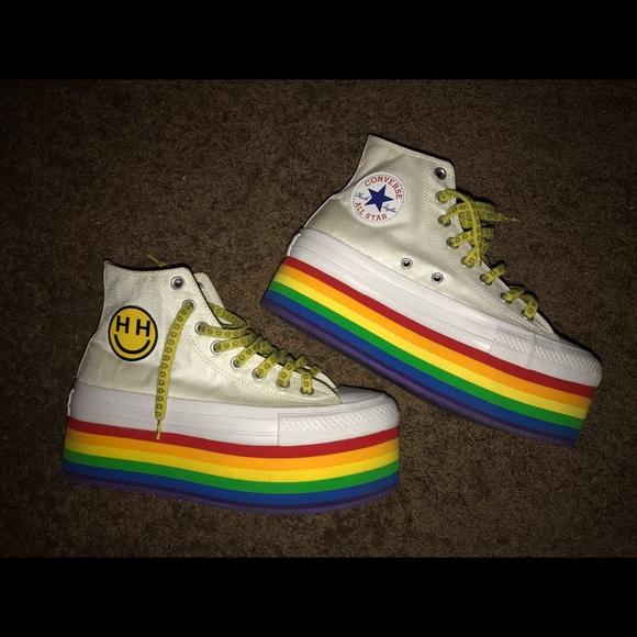 5bfbc1a6612c Converse Shoes - Miley Cyrus - Happy Hippy Pride Converse Platforms